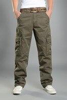 Winter Big Pockets Thick Men S Cargo Pants Warm Baggy Pants Cotton Trousers For Men Male