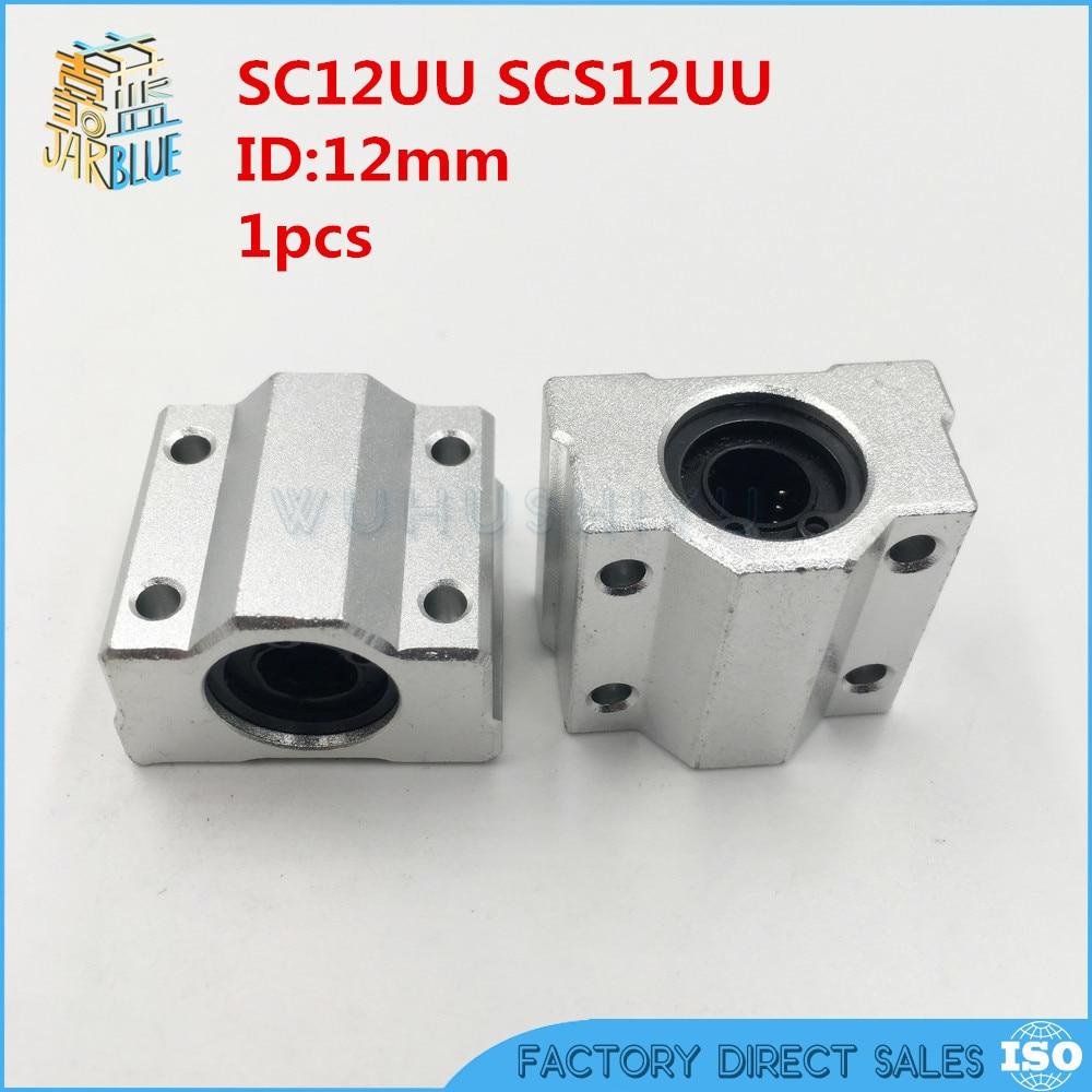 1Pcs SC10UU SCS10UU Linear Motion Ball Bearing Slide Bushing Pillow Block Unit