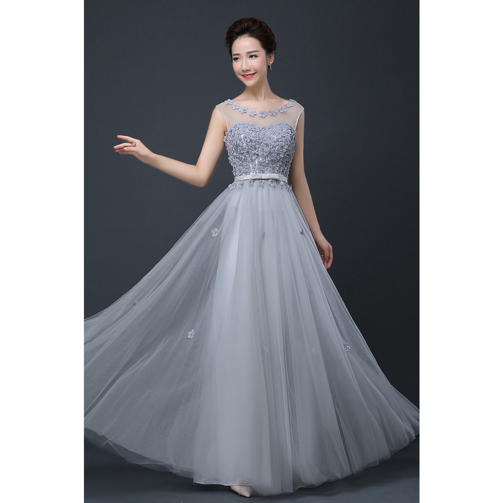 Pretty grey bridesmaid dresses reviews online shopping pretty 2017 cheap plus size fairy long bridesmaid dresses scoop off the shoulder pretty women formal wedding party prom gown dress grey ombrellifo Image collections