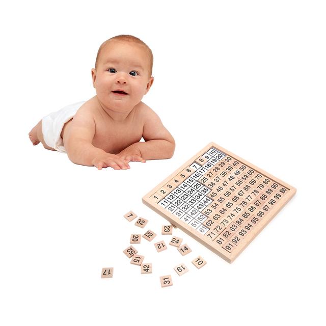 1-100 Digital Wooden Board Montessori Math Toys Montessori Materials Children's Educational Toys Digital Board Figure Blocks Toy