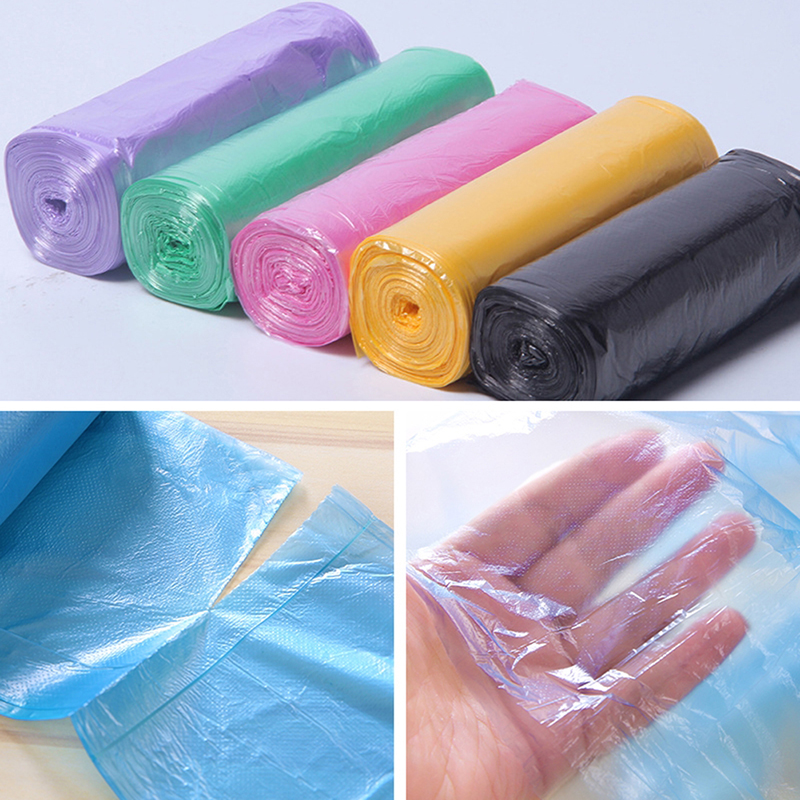 1 Roll 20pcs Garbage Bag Plastic Disposable Garbage Trash Cans Bags Kitchen Organizer Solid Colorful Garbage Bag 45*55cm #919#