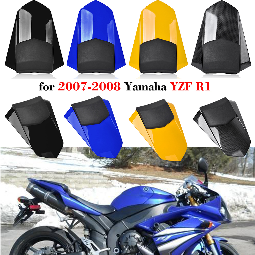 Motorcycle 07 08 YZF-R1 YZFR1 Accessories Rear Passenger Pillion Tail Seat Cowl Fairing Cover For 2007 2008 Yamaha YZF R1