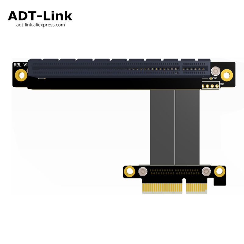 PCIe 3.0 x4 to x16 Riser Cable 32G/bps PCI-E 4x 16x GTX1080Ti Graphics SSD RAID Card Extender Conversion Cable PCI Express Angle riser pci e 4x male to pcie 16x female pci express graphics card extension riser cable pci e gen3 0 4x 16x extender right