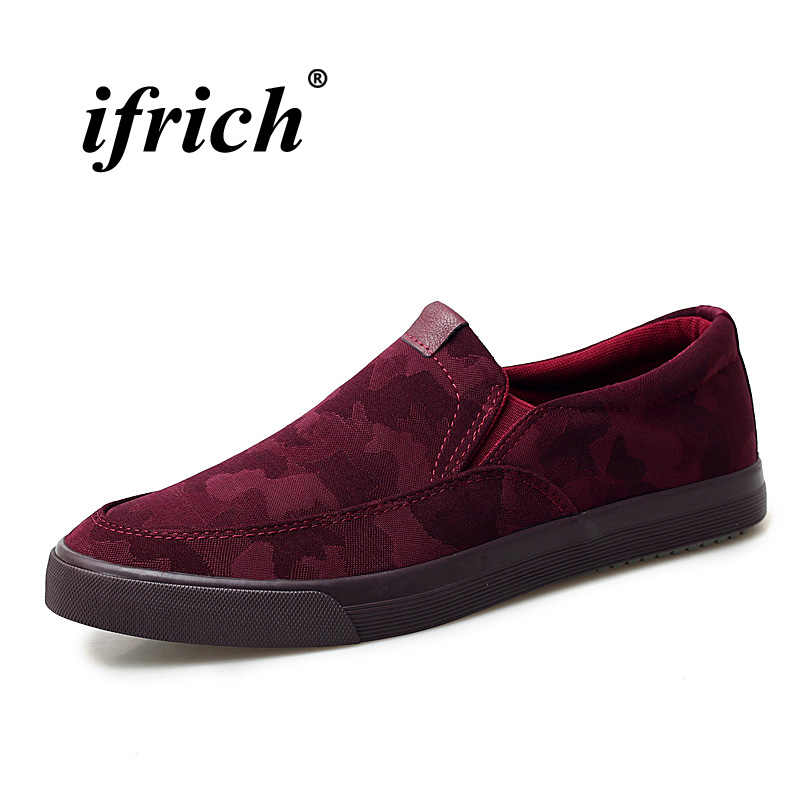 171f7cee3100 Men Walking Driver Footwear Wine Red Black Casual Loafers Shoes Young  Anti-Slip Lazy Shoes