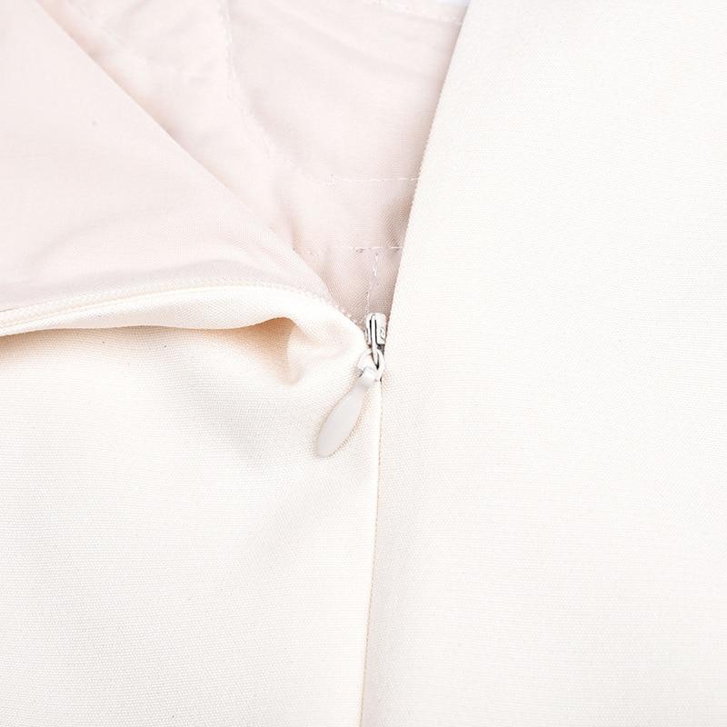 Della Nuovo Petalo Abito Nodo Maniche Riduzione Lavoratore Farfalla Dolce Età Bianco Senza Manicotto Perline Del CrodsQBtxh