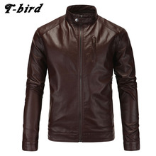 T-bird Jacket Men Winter 2017 Coat Male Bomber Jacket Men PU Leather   Brand Outwear Mens Cotton Jackets Clothing parka men 5XL