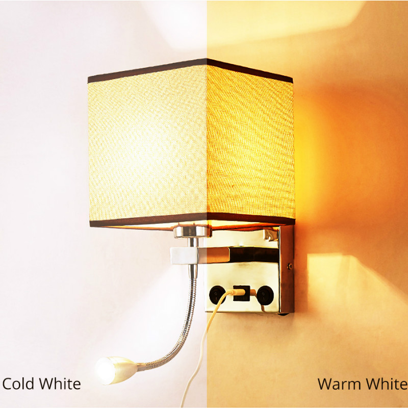 Simple Modern with USB Creative LED Wall Lamp Bed Bedroom Decal Stair Wall Lamp E27 Bulb Indoor Bedside Family Hotel Wall Lamp