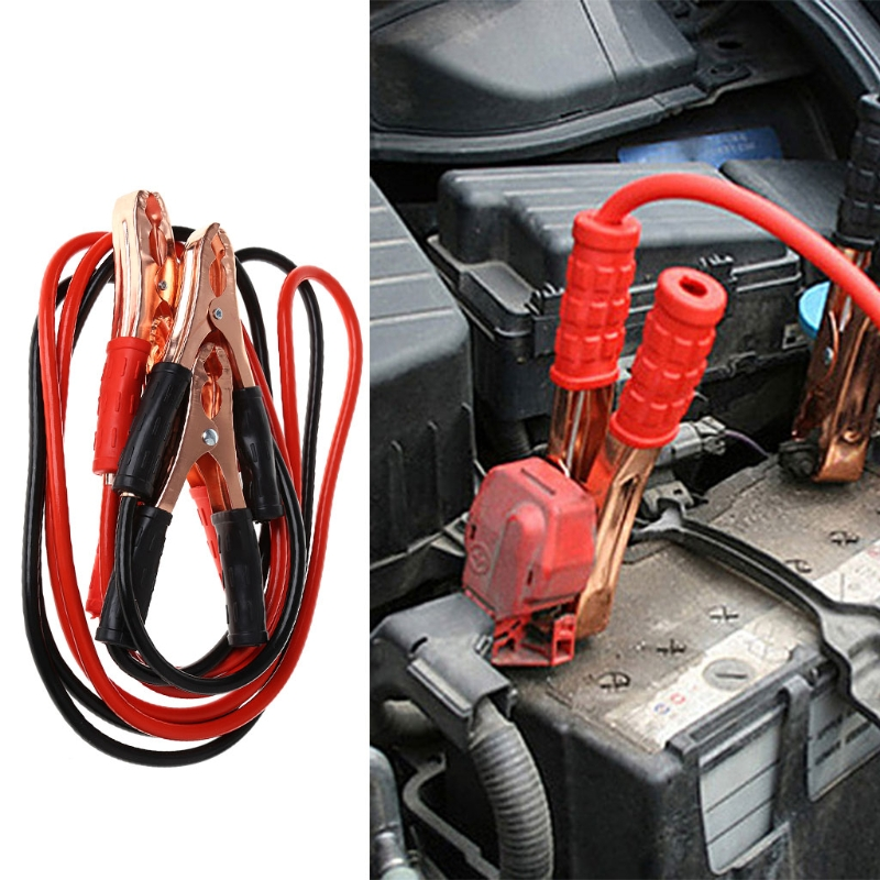 2M 500Amp Car Battery Booster Power Wire Line Emergency Cable Line Cable Clip Durable Auto Fire Line Copper Wire Heavy Duty