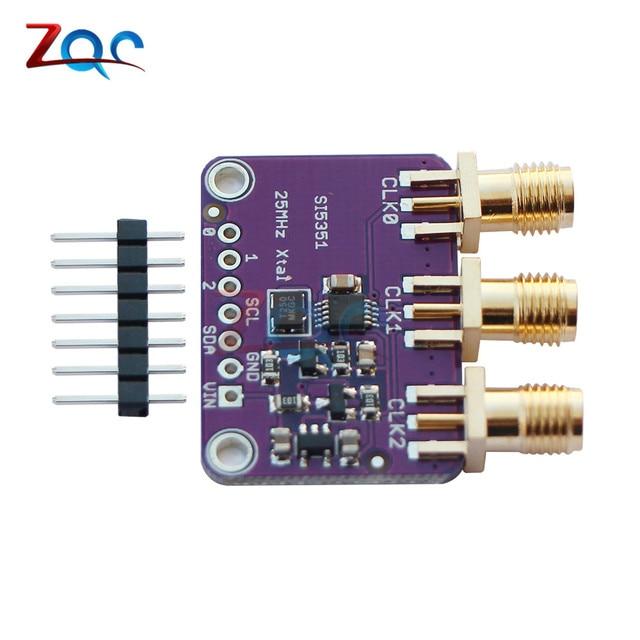 US $3 26 11% OFF|CJMCU 5351 Si5351A Si5351 I2C Clock Generator Breakout  Board Module Signal Generator Clock 8KHz 160MHz For Arduino DC 3V 5V-in  Signal