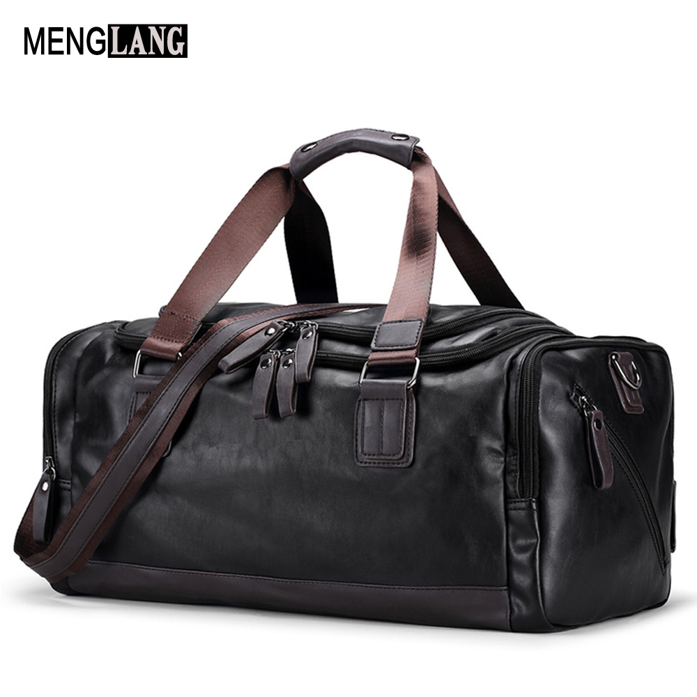 PU Leather Men Travel Bags Overnight Duffel Bag Weekend Travel Large High Quality Tote Bags Crossbody Travel Bags big volume weekend bag for man in pu material men s business leather travel bag men duffel bag high quality men shoulder bags