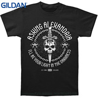 GILDAN Stranger Things Design T Shirt 2017 New Asking Alexandria Men's Light In The Darkness T-shirt Black