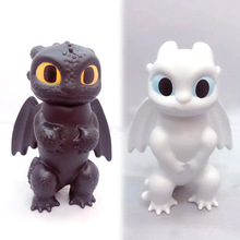 12cm 2pcs/lot Black and White Dragon The Hidden World Toothless Action figure Light Fury Toys