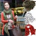 Bufanda cebra de moda primavera y otoño bufanda gran chal 4 colores en el envío gratis