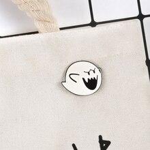 Super Mario Pins Boo Brooches Badges Hard enamel pins Backpack Bag Hat Leather Jackets Fashion Accessory Super Mario Bros