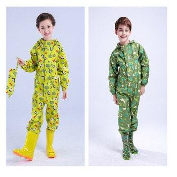 boys girls raincoat for children,hood waterproof rain coat children jumpsuit rain,students kids poncho