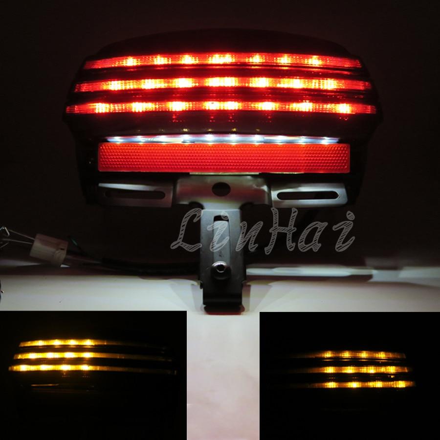 Smoke Tri Bar Led Fender Turn Signal Tail Light License