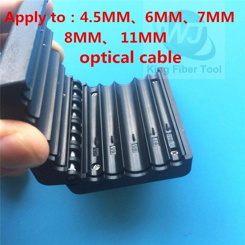 Lâche tube découpeuse 4.5mm-11mm Ruban Câble Décapant Longitudinal Tube Central Décapage Outil Tube Découpeuse Coupe-Câble