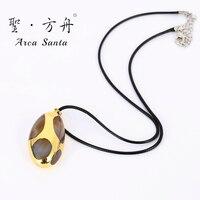 ArcaSanta Unique Bohemia True stone Necklace Brand Designer Ladies Ethnic Necklaces Fashion Real stone
