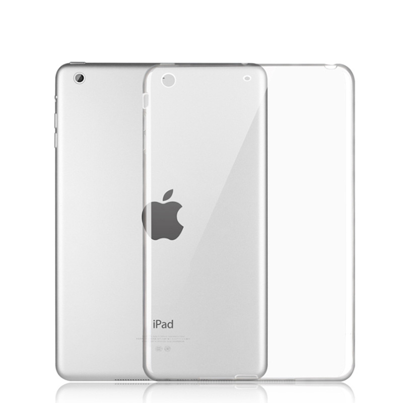 Croen meddal TPU croen Silk clawr achos clawr fain achos tryloyw clir ar gyfer Apple iPad Mini 123 / aer 1 / aer 2 / iPad 234 / iPad Pro 9.7