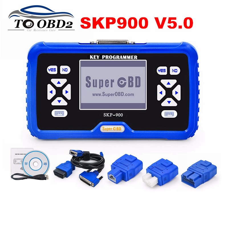 SuperOBD SKP900 Key Programmer V5.0 Original Update Online Supports Almost Cars No Need Pin Code SKP-900 Auto Key Maker