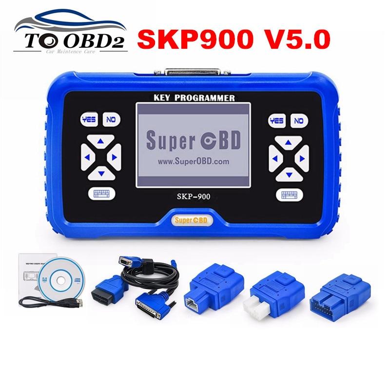 SuperOBD SKP900 programmeur principal V5.0 mise à jour originale en ligne prend en charge presque les voitures pas besoin de Code Pin SKP-900 fabricant de clé automatique