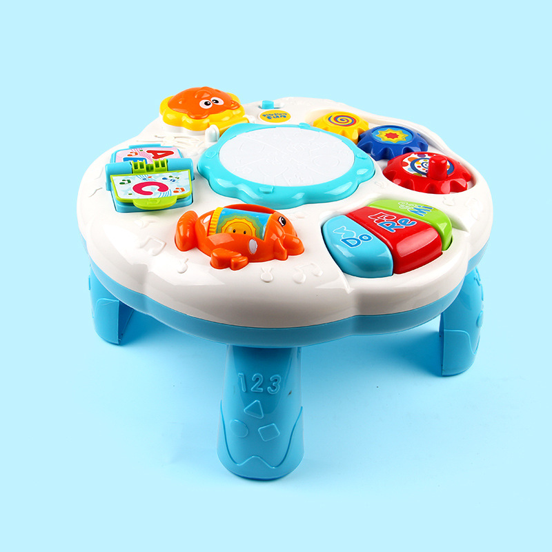 Baby Multi-function Music Game Table Baby Early Childhood Educational Children Interest of Learning Toy novelty wall demolish game cartoon cat demolish wall toy interactive game desk toy children learning educational toys for kids