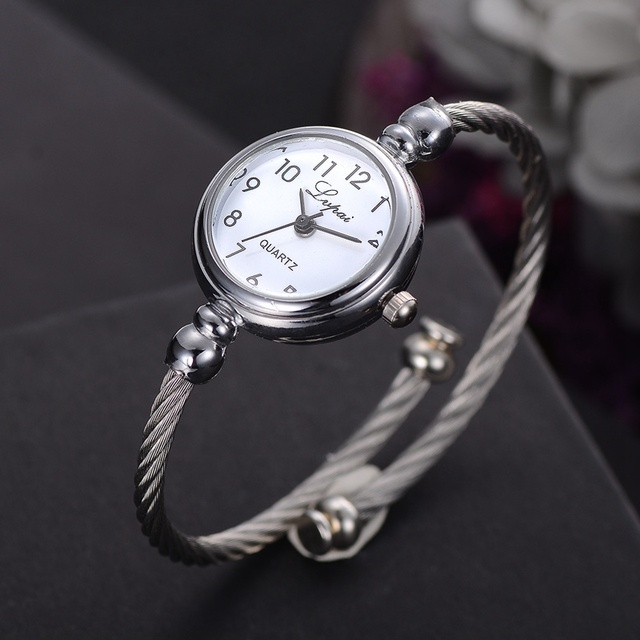 Fashion Women Bracelet Watch Luxury Brand Stainless Steel Silver Ladies Wristwat