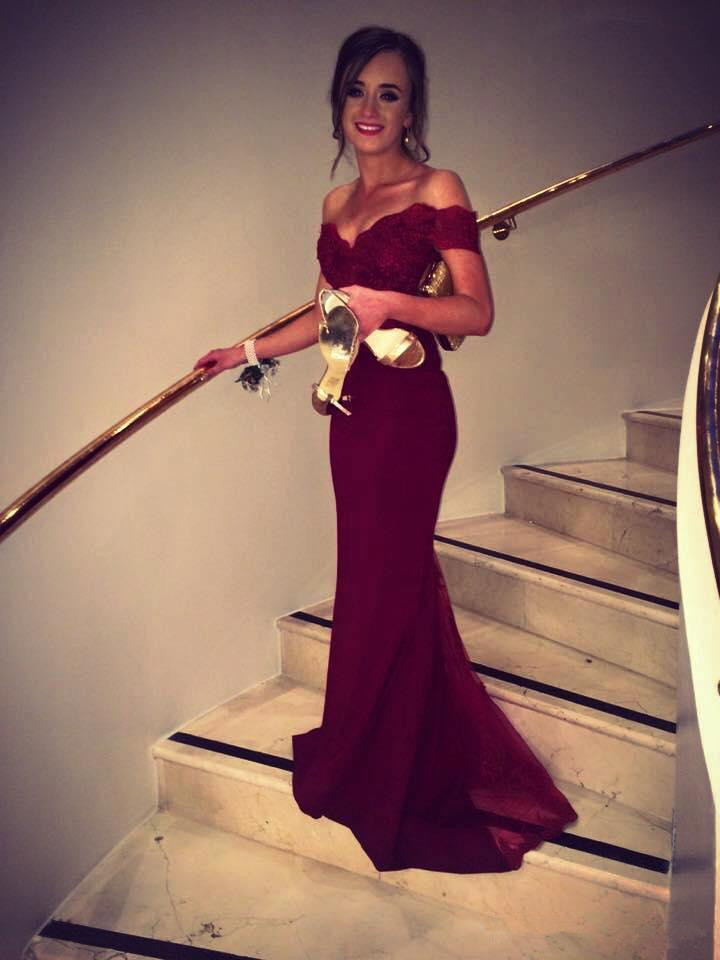 Burgundy Robe De Soiree 2019 Mermaid Off The Shoulder Appliques Sexy Long Women Party   Prom     Dresses     Prom   Gown Evening   Dresses