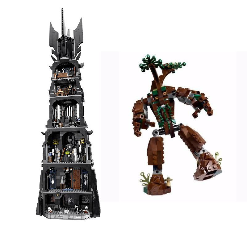 WAZ Compatible Legoe Lord of the Rings Series 10237 Lepin 16010 2430pcs Tower of Orthanvc building blocks bricks toys for childr hot sale the hobbit lord of the rings mordor orc uruk hai aragorn rohan mirkwood elf building blocks bricks children gift toys