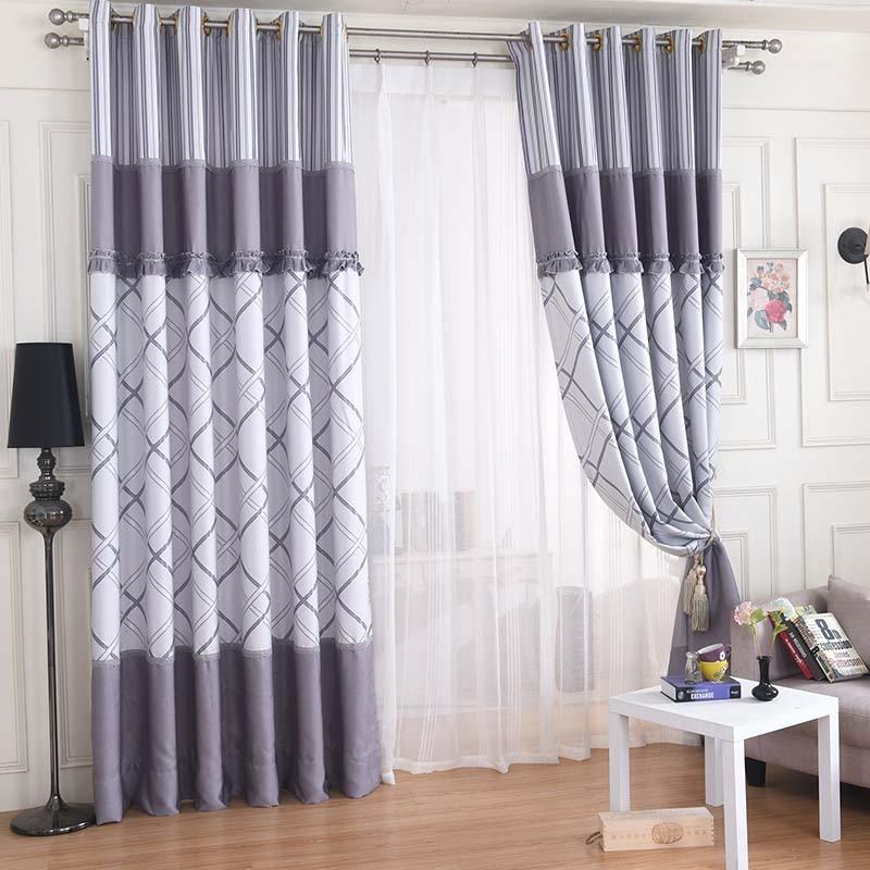 Curtains Living Room Satin Blackout Grommet Bedroom