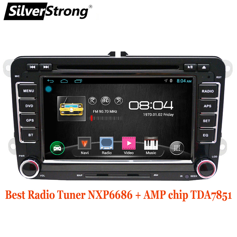 SilverStrong Android9 0 best radio tuner 6686 for Passat B6 B7 Car DVD Player For Golf