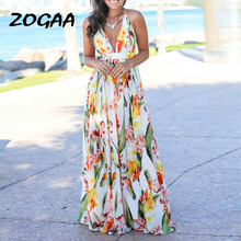 ZOGAA Summer Dress 2019 Women Floral Print Bodycon Long Boho Sexy dresses woman party night vestidos elegantes robe longue