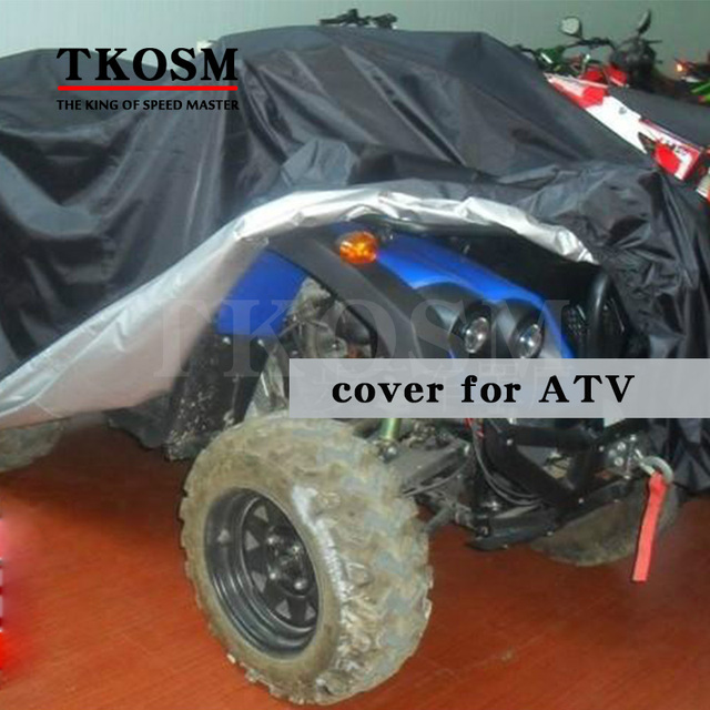 free shipping New Motorcycle Cover big Size Water Proof Motorcycle Black or Sliver  without Logo 190t Material cover for ATV