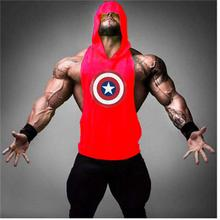 Superman Stringer Tank Top Man Bodybuilding Clothing and Fitness Mens Sleeveless Shirt Vests Cotton Singlets Muscle Tops Strong