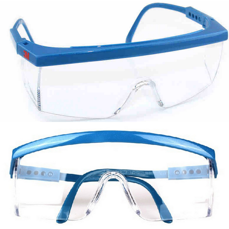 3m 1711 Anti-shock Wind Uv Protective Glasses Riding Eyewear Goggles Blue Frame Tools & Workshop Equipment Business & Industrial