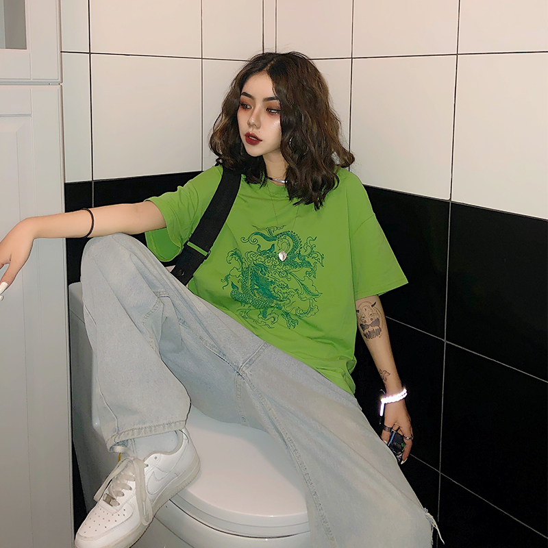 Green short sleeves