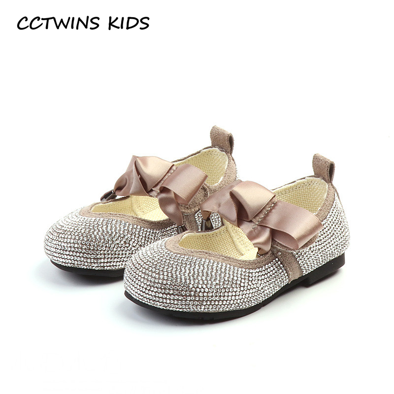 CCTWINS KIDS 2018 Autumn Children Fashion Rhinestone Party Shoe Baby Girl Butterfly Princess Flat Toddler Black Mary Jane GM2028 cctwins kids 2018 spring fashion pink princess butterfly shoe children genuine leather mary jane baby girl party flat gm1942