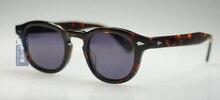 Retro Vintage Polarized Sunglasses Johnny Depp Round Frame Eyewear 100%UV400 Sun Glasses Tortoise M With Darkgray Lens HOT SALE