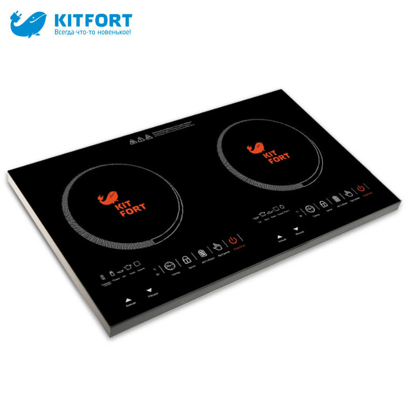 Induction Cooker Kitfort KT-105 Multifunction plate electric panel cooking stove Mini Portable Household zipper halter mesh panel zipper cut out swimwear