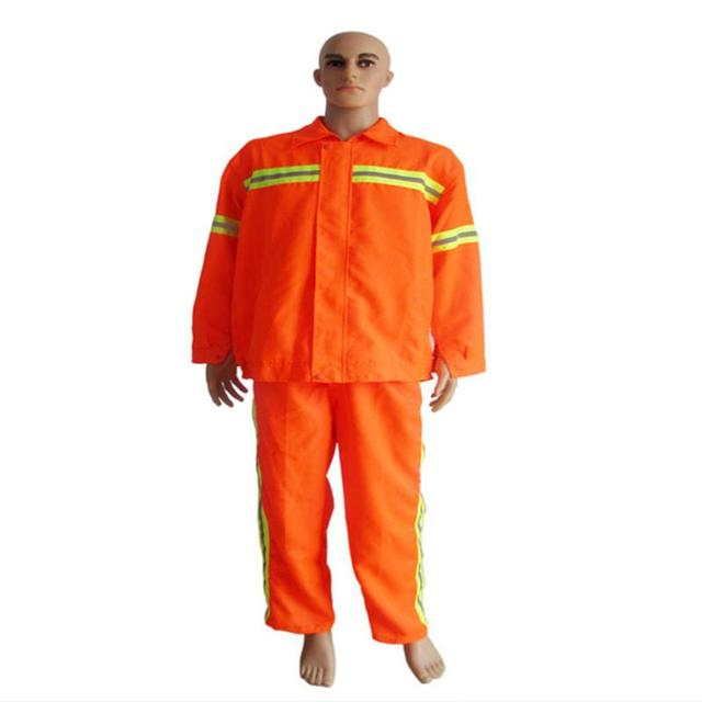 Orange saneamiento traje reflectante saneamiento smock ropa de trabajo uniformes clothing