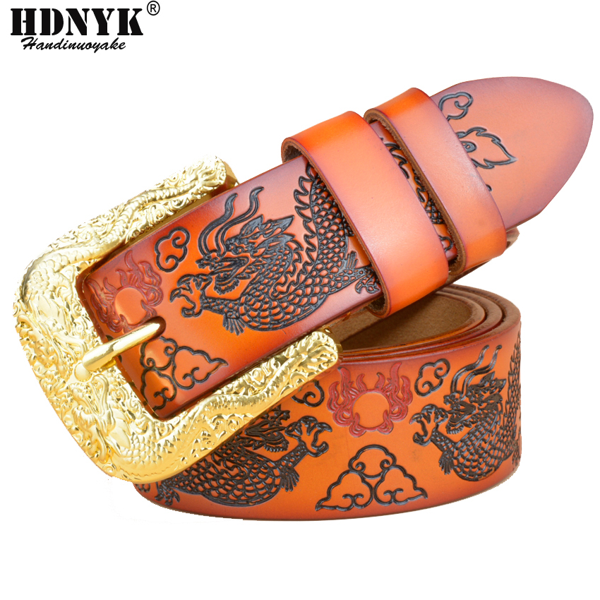Free Shipping New Arrival Fashion Hot Selling Unique Design Genuine Leather Men Belt  Cow