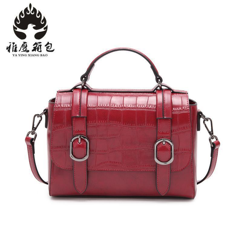 Women Shoulder Messenger Bags Genuine Leather Handbag Female Fashion Crossbody Bag Ladies Solid Small Tote Bag Purse new arrival vintage women handbag genuine leather purse female small bag messenger crossbody bag hand painted women shoulder bag