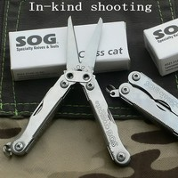 Outdoor Combination Scissors Multi Function Mini Tool Pliers Stainless Steel Tactical Survival Portable Folding Tools EDC