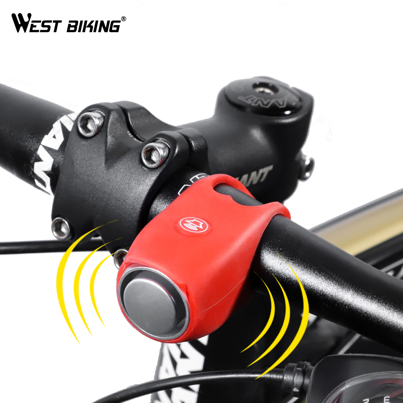 120dB Bike Bicycle Cylcing Handlebar Silicone Safety Warning 5 Voice Bells Horns