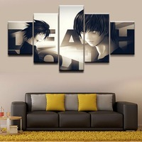 Modern Canvas HD Printed Poster Wall Art Pictures Framework 5 Pieces Death Note L Light Yagami