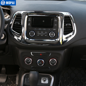 Image 4 - MOPAI 3.5 Inches Car Interior Dashboard Navigation GPS Decoration Frame Cover Stickers for Jeep Compass 2017 Up Car Styling