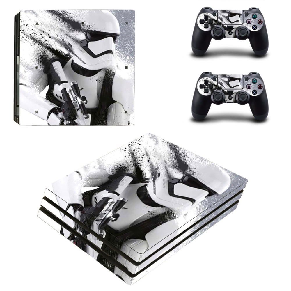 Ps4 PRO Console Skin Decal Sticker Star Wars+ 2 Controller Skins Set