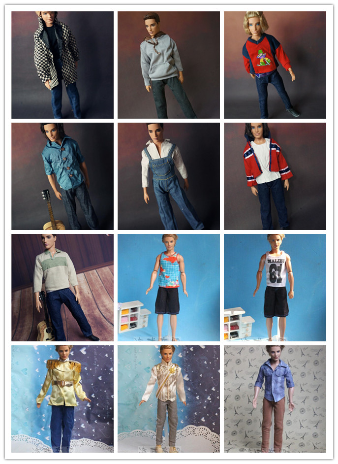 Wholesale New Arrival 10units/lot Garments Set for Barbie Ken, Informal swimsuit Garments For Barbie Princess Boyfriend