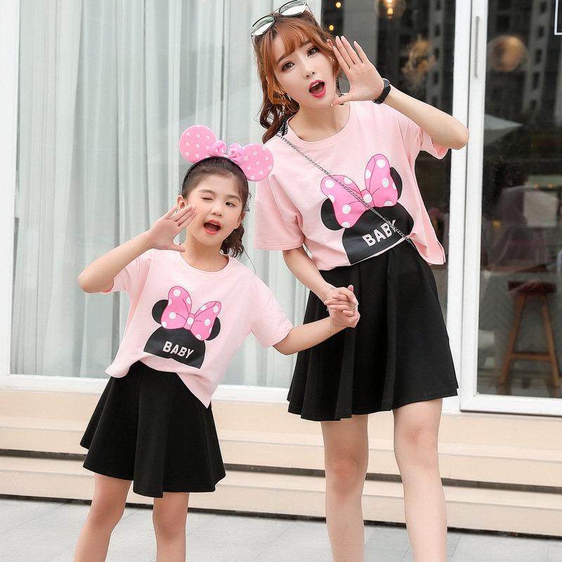 mommy and me mother daughter dress clothes mounse pajamas