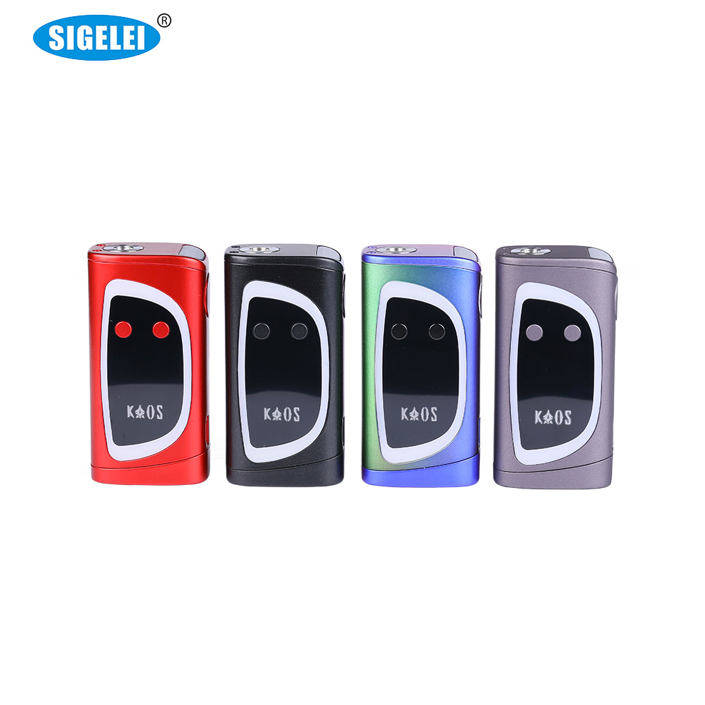 Original Sigelei Kaos Spectrum 230W Box Mod 7.5V electronic cigarette without 18650 battery vape vaporizer 0.1ohm 3.0ohm E Cig
